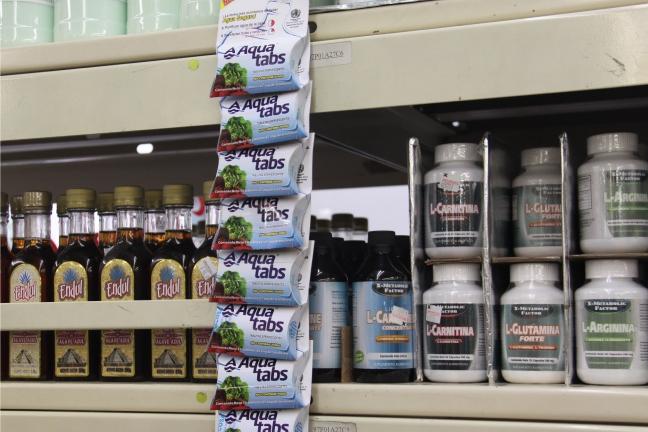 Countertop Dishwasher Bangkok : Aquatabs water purifying tablets in a Mexican pharmacy