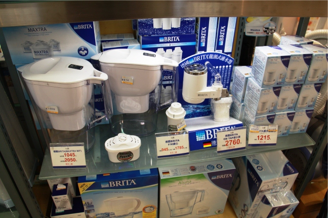 Pour-through filter pitchers and faucet mounts in Taiwan